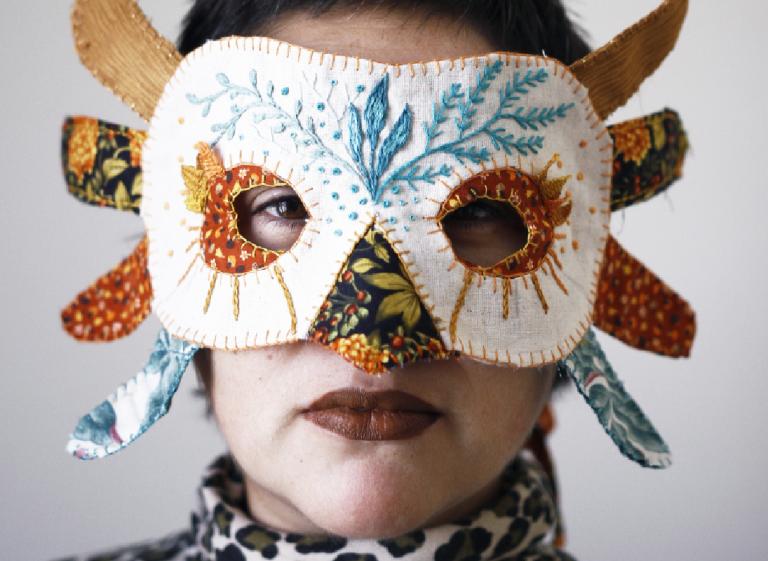 Taller de máscara textil con telas reutilizadas (Museo Verde)