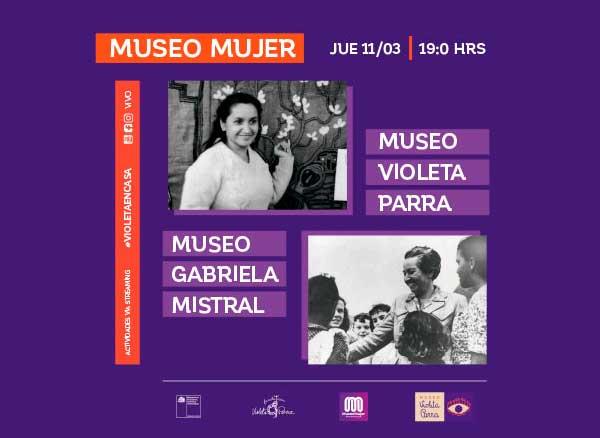 Directoras de museos Violeta Parra y Gabriela Mistral conversaron sobre la preservación del legado de mujeres históricas