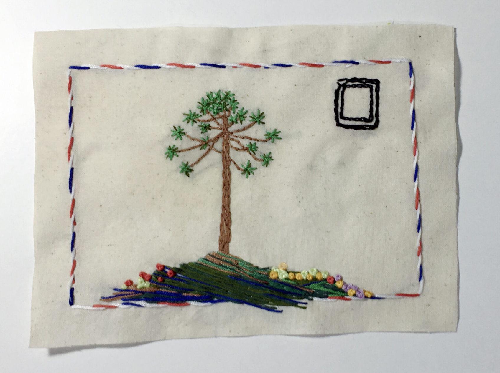 #VioletaEnCasa presentó el Taller de Bordado y Arte Correo Textil en el Día del Patrimonio Cultural